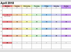 April 2018 Calendar Printable Templates This site