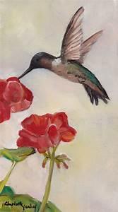 Daily Painters Of Pennsylvania  Hummingbird On Geranium