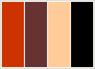 colors that go well with orange colorcombo66 with hex colors cc3300 663333 ffcc99 000000