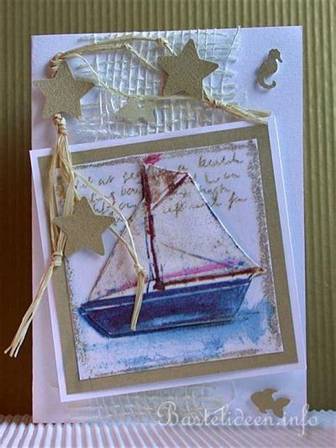 geburtstagskarten selber basteln im sommer segelboot karte