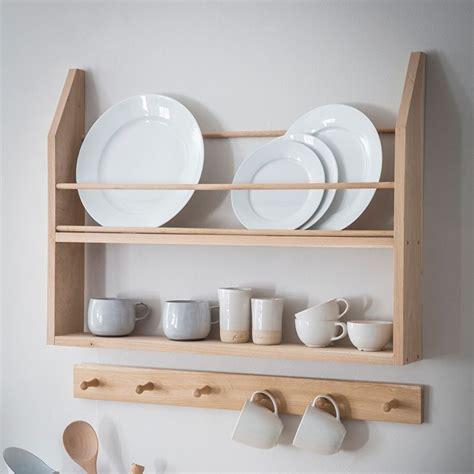 oak hambledon plate shelf garden trading plate shelves wall mounted kitchen storage shelves