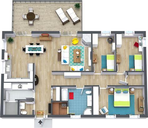 3 bedroom floor plan 3 bedroom floor plans roomsketcher