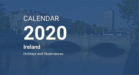 year  calendar ireland