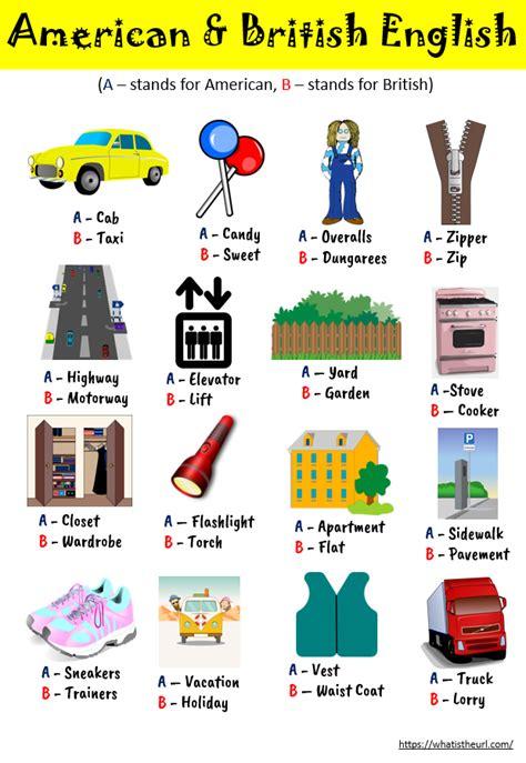 chart  american british english  home teacher