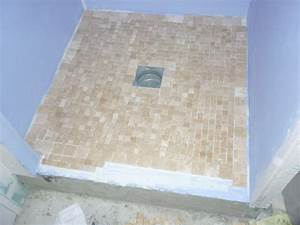 Receveur Douche Pret A Carreler : douche italienne pose de la mosaique naturelle sur ~ Premium-room.com Idées de Décoration
