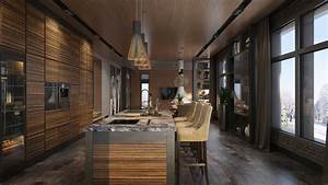 Luxury, Home, Decor, Combined, With, Wooden, And, Brick, Wall