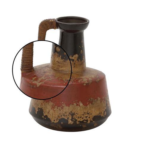 vases decorative ceramic decorative vase rattan handle 12 in rustic jug