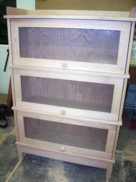unfinished furniture barrister bookcase woodloft com locally amish custom crafted bookcases