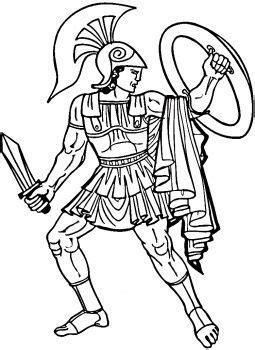 greek warrior  site    coloring