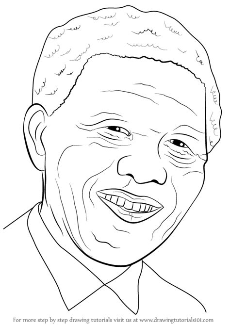 step  step   draw nelson mandela face