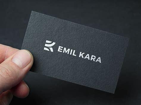 ek  images business card inspiration monogram logo