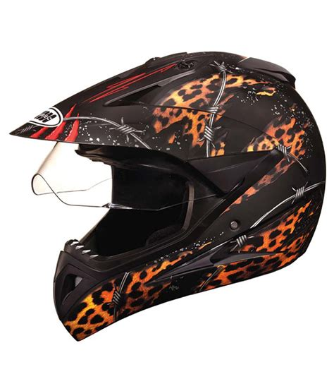 Studds Full Face Helmet Motocross Decor D1 Matt Black
