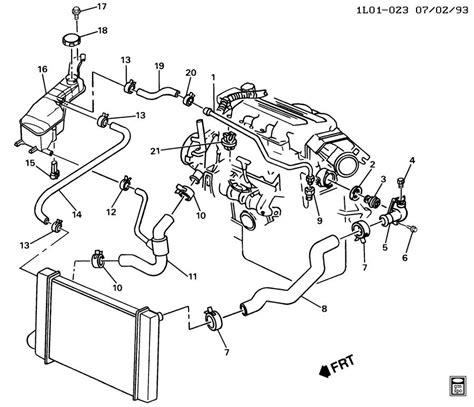 2002 Pontiac 3 4 Engine Cooling Diagram by Hoses Pipes Radiator V6 3 1l