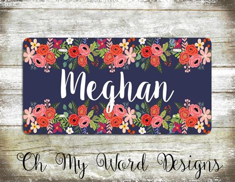 pin  ashley west  cricut personalised car plates personalized car tags monogram license