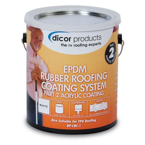 Dicor EPDM Roof Acrylic Coating - 1 Gallon, Tan-RP-CRCT-1 - The Home Depot
