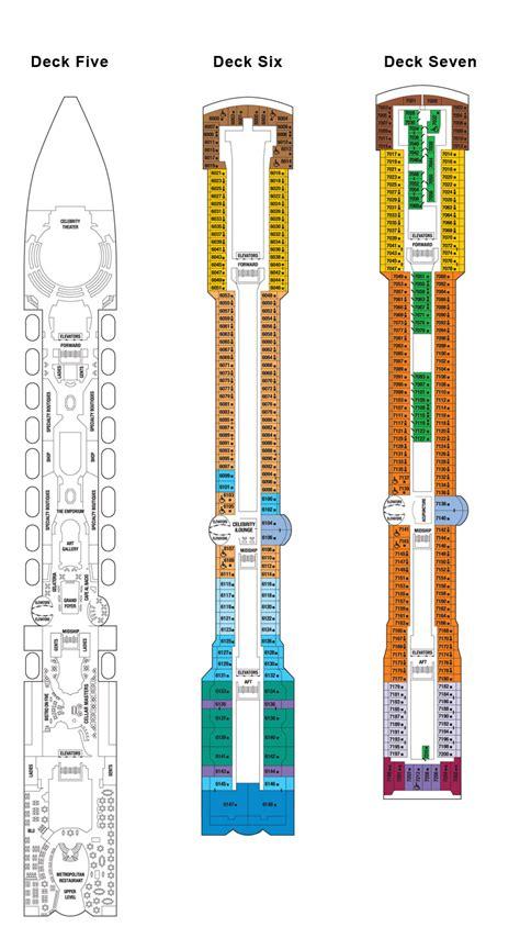 Millennium Deck 6 Plan by S Millenium Deck Plan Fitness Travel Club