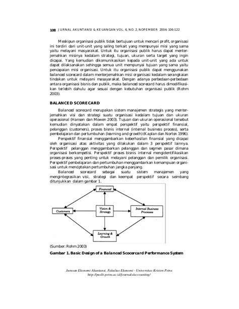 Jurnal implementasi bsc pada organisasi publik