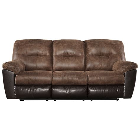 ashley furniture reclining sofa signature design by ashley follett two tone faux leather