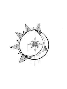 """Résultat de recherche d'images pour """"geometric sun moon"""