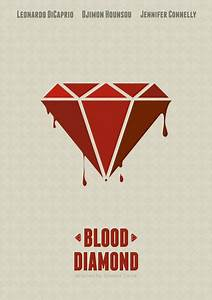 Blood Diamond - Minimal poster Art Print by Mads Hindhede ...