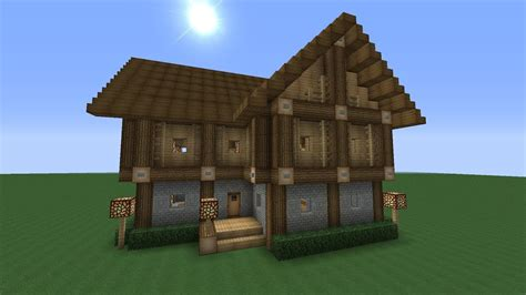 Detailed Advanced 2 Story Wooden House Minecraft Tutorial