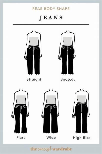 Shape Pear Hourglass Shaped Rectangle Jeans Shapes
