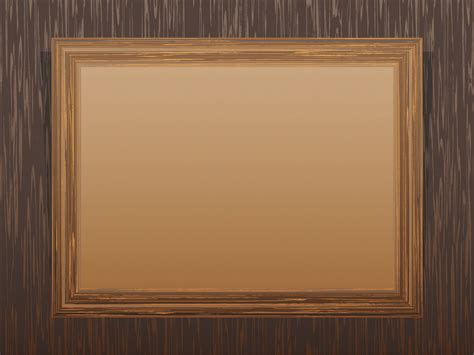 Brown Wooden Frame Powerpoint Templates  Border & Frames