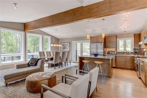 open house design diverse luxury touches  open floor