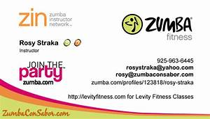 Zumba con sabor for Zumba instructor business cards