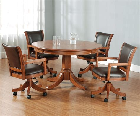 Round Flip Top Gaming/dining Table By Hillsdale