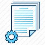 Batch Processing Icon Document Settings Office Icons