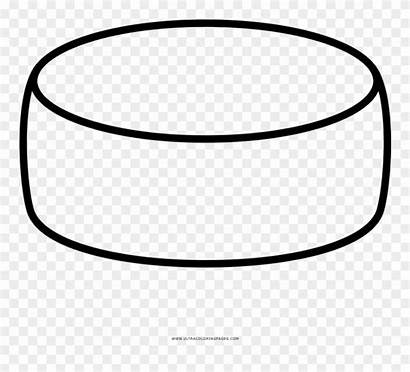 Cheese Wheel Clipart Coloring Line Pinclipart