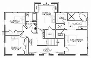 Country Style House Plan  Farmhouse   Two Story   4 Bedroom