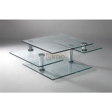 table cuisine rectangulaire table basse moderne extensible verre et acier moving