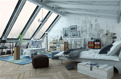 stylish loft bedroom ideas design pictures
