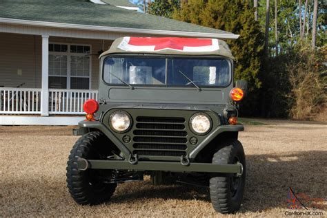 military jeep front 1966 m718 military front line ambulance m151 jeep 1 4 ton