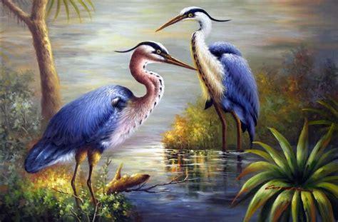 Superbes Peintures Oiseaux