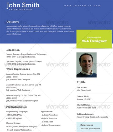 Professional One Page Resume Exle by 41 One Page Resume Templates Free Sles Exles Formats Free Premium