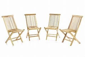Gartenstühle Holz Klappbar : divero 4er set gartenstuhl teak holz unbehandelt klappbar st hle massiv holzstuhl kaufen bei ~ Orissabook.com Haus und Dekorationen