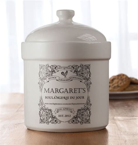personalized french country cookie jar cookie jars