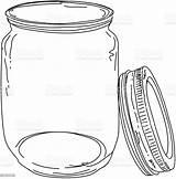 Jar Canning Lid Jam Einmachglas Clipart Clip Barattolo Pot Cartoons Illustrations Grafiken Illustrazioni Door Istock Deckel Ouvert Stockillustraties Iconen Animati sketch template