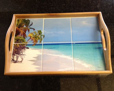 wood tile serving tray my island