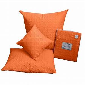 orange quilted bedspread throws filled cushion covers With bed throws and cushions