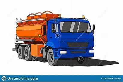Truck Tanker Fuel Tank Gasoline Flat Petroliera