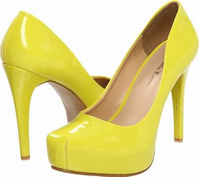 Shoes Heels Yellow Shoe Transparent Ladies Clipart