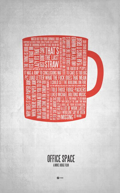 Office Space Poster by Honeybadger Dont Care Office Space Typographic