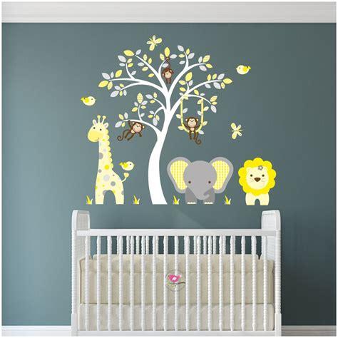Wandtattoo Kinderzimmer Gelb by Jungle Animal Nursery Wall Stickers