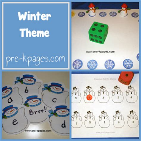 winter theme preschool kindergarten printables pre 410 | winter collage