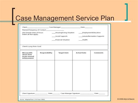 Plan Template Social Work by Collection Service Plan Template Social Work Photos