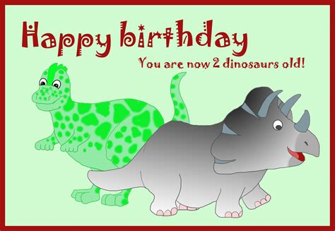 Birthday Card Image 2 by 9 Birthday Cards With Dinosaur Pictures Birthday